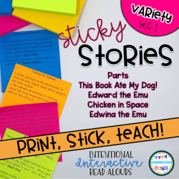 Interactive Read Aloud Lessons- Sticky Stories- Variety Set 1