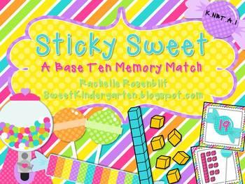 Sticky Sweet {A Base Ten Memory Match}
