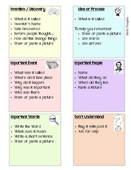Sticky Thought Notes
