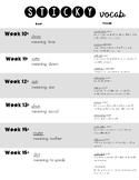 Sticky Vocab List 2