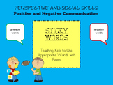 Sticky Words-Positive and Negative Communication, Social Skills, Speech Therapy