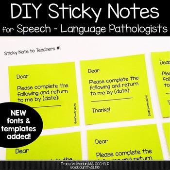 Sticky note bundle pack for SLPs