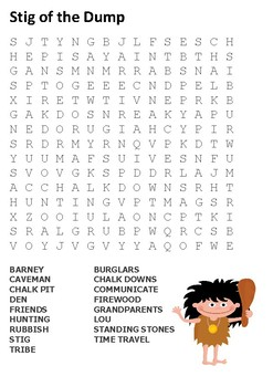 Stig of the Dump Word Search
