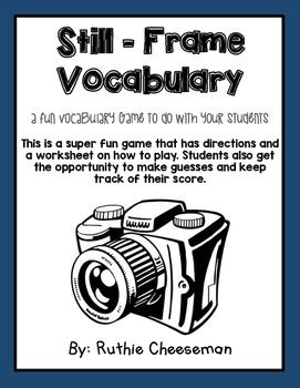 Still Frame Vocabulary Game