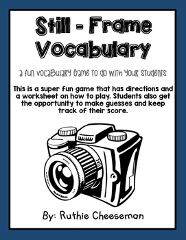 Still Frame Vocabulary Game