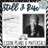 """""""Still I Rise"""" (Angelou) Lesson Plan & Materials"""