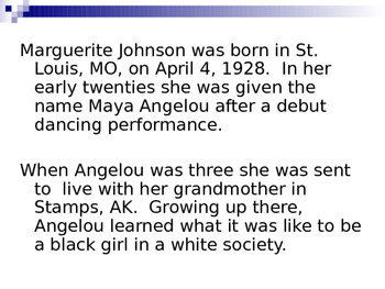 Still I Rise, Maya Angelou LP and PPT (allusion and tone)
