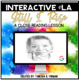 """""""Still I Rise"""" by Maya Angelou – A Close Read (Distance Learning)"""