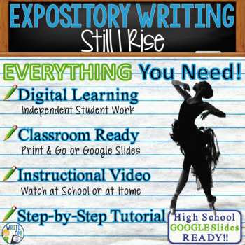 Still I Rise by Maya Angelou -  Text Dependent Analysis Expository Writing