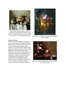 Still Life: A History Close Read with Quesions