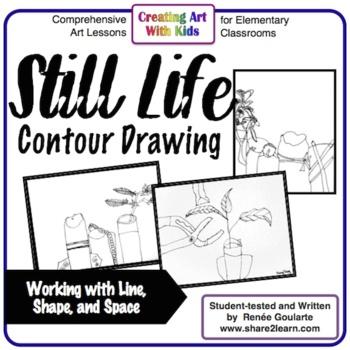 Art Lesson - Still Life Contour Drawing