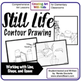 Art Lesson Still Life Contour Drawing