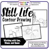 Art Lesson Still Life Contour Drawing