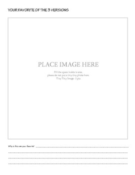 Still Life Photography Worksheet
