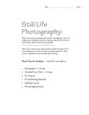 Still Life Photography Worksheet