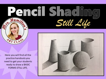 Still Life Shading Practice Handouts Bundle