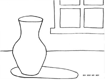 Still Life Worksheet used for Color Theory Exercise