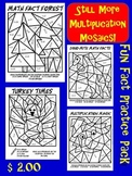 Still More Multiplication Mosaics!! 4 Pack- Color By Number Fun!