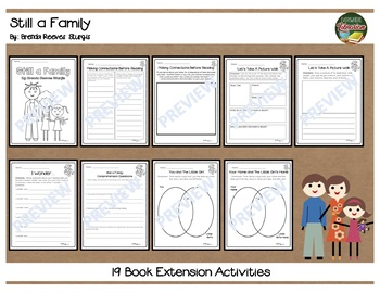 Still a Family by Sturgis 19 Book Extension Activities NO PREP