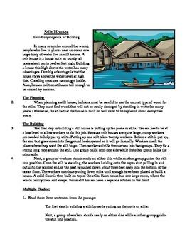 Stilt Houses - Informational Text Test Prep