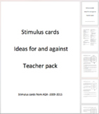 Stimulus cards - For and against pack