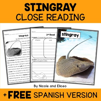 Close Reading Stingray Activities