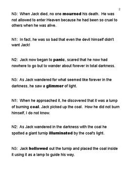 Stingy Jack and the Jack-O'-Lantern (Readers' Theatre) & Crossword