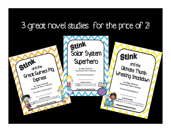 Stink #4-6 Novel Study Bundle