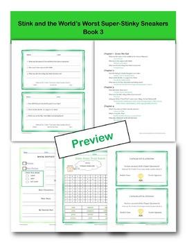 Stink Chapter Questions Bundle!!  Books 1-4