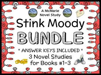 Stink Moody BUNDLE (Megan McDonald) 3 Novel Studies : Books #1-3 (82 pages)