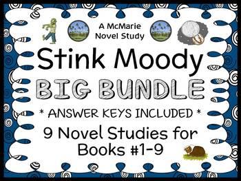 Stink Moody COLLECTION (Megan McDonald) All 9 Novel Studies / Comprehension