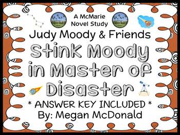 Stink Moody in Master of Disaster (Megan McDonald) Novel Study  (17 pages)