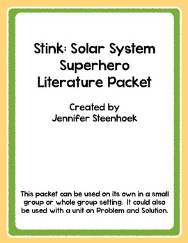 Stink: Solar System Superhero Comprehension Packet