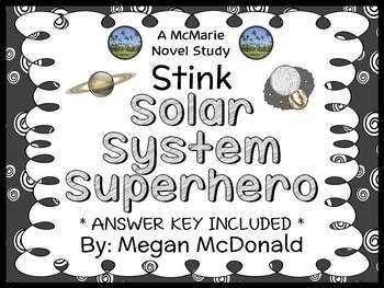 Stink Solar System Superhero (Megan McDonald) Novel Study / Comprehension
