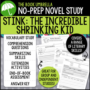 Stink The Incredible Shrinking Kid Novel Study