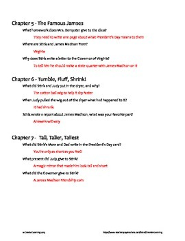 Stink The Incredible Shrinking Kid (Book 1) Chapter Questions Unit