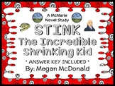 Stink The Incredible Shrinking Kid (Megan McDonald) Novel Study / Comprehension