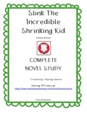 Stink - The Incredible Shrinking Kid complete Novel Study