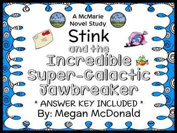 Stink and the Incredible Super-Galactic Jawbreaker (Megan McDonald) Novel Study