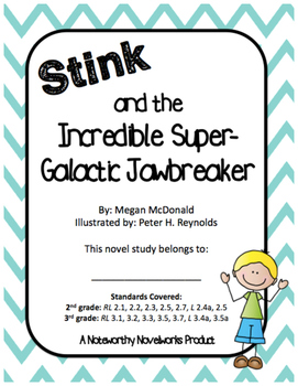 Stink and the Incredible Super-Galactic Jawbreaker Novel Study (#2)