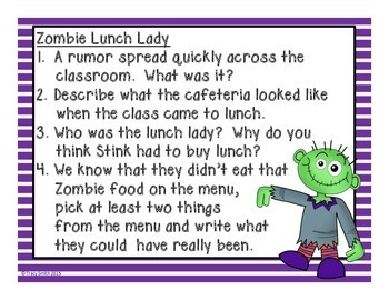 Stink and the Midnight Zombie Walk - No Copies Reading Instruction!