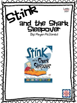 Stink and the Shark Sleepover Novel Study/Book Club/ Comprehension