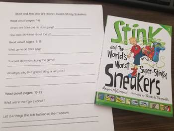 Stink and the World's Worst Super- Stinky Sneakers Book Club Packet
