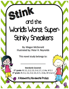 Stink and the World's Worst Super-Stinky Sneakers Novel Study (#3)