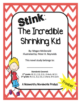 Stink the Incredible Shrinking Kid Novel Study FREEBIE!