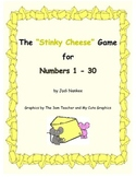 """Stinky Cheese"" Game for Numbers 1 - 30"