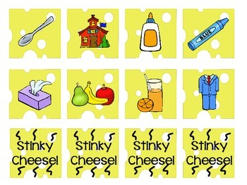 Stinky Cheese! Reading Game - Adjacent Vowels/Vowel Team Edition {3 Versions}