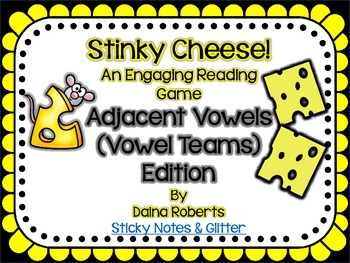 Stinky Cheese! Reading Game - Adjacent Vowels/Vowel Team E