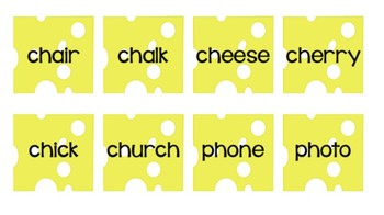 Stinky Cheese! Reading Game - Beginning Digraphs Edition {3 Versions}