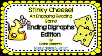 Stinky Cheese! Reading Game - Ending Digraphs Edition {3 Versions}